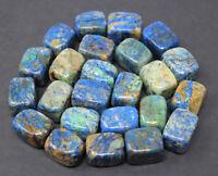 Polished Tumbled Azurite 1/4 lb Bulk Lot (Crystal Healing Tumble Gemstone)