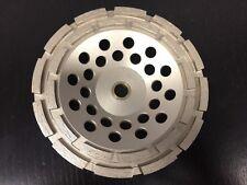 "7"" Double Row  5/8-11 Thread Concrete Diamond Grinding CUP Wheel Disc Grinder"