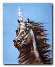 Unicorn Horse Mythical Unicorn Horn Animal Head Wall Decor Art Print (16x20)