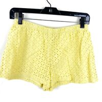 Ralph Lauren Kids Girls Yellow Eyelet Lined Shorts 100% Cotton Size 14