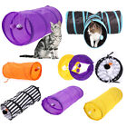 Cat Tunnel Toys Folding Pet Fun Tunnel Kitten Rabbit Play With Ball Colorful New