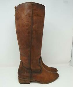 Fyre Melissa Knee High Riding Boots Leather Brown Women's US Size 7M