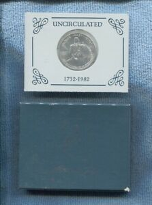 1731-1982 George Washington Silver Half Dollar Coin UNC Commemorative L-710