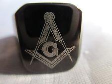 MENDINO Mens BLACK Free Mason Freemasonry Masonic Ring
