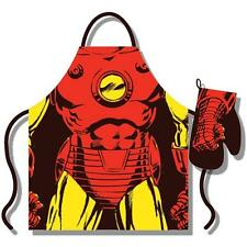 Iron Man- Costume Apron And Oven Mitt Set - New & Official Marvel Comics In Pack