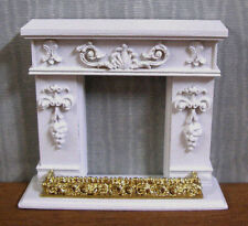 "HALF  SCALE ~ 1/2""  scale~ 3  PIECE   FIREPLACE   SET ~Dollhouse~ 1/24 ~Room Box"