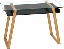 bonVIVO Writing Desk Massimo - Home Office Desk of Glass and Bamboo Wood