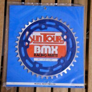 NOS Old school BMX Vintage Suntour 40T Blue Chainring KUWAHARA