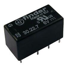 Finder 30.22.7.006.0000 Relais 6V DC 2xUM 2A 180R 125V AC Relay Print 855025