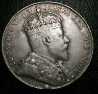 OLD CANADIAN COINS 1907 NEWFOUNDLAND CANADA FIFTY CENTS