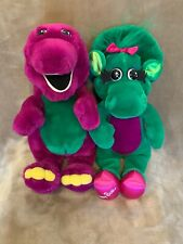 Vintage Barney and Baby Bop 1992 Dinosaur Lyons Group Doll Plush Toys