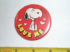 VTG Pinback Snoopy Love Me Pin Pinback United Feature Syndicate UFS Rare 1959