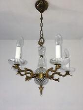 Empire Antik Stil Kronleuchter Messing Decken Lampe Vtg 6 fl. Lüster Alt
