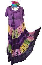 DELICIOUS NEW SPIRIT DANCE PURPLE  TUNIC DRESS SIZE UK M / L 16 / 18 MAXI SUN