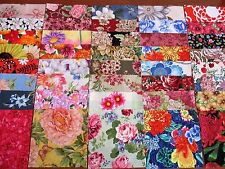 40 x 5' CHARM SQUARES LARGE BLOOMS 100% Cotton Fabric Sewing Material No.16