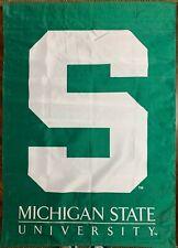 "New ListingMichigan State University (Msu) Spartans 2 Sided 29 1/2"" x 42 Banner Flag"