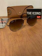 Ray Ban Aviator RB 3025 004/51 Gunmetal/Gradient brown sunglasses 58mm