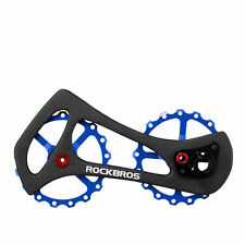 ROCKBROS Rear Derailleur Cage Pulley Derailleur Jockey Wheel 17T Carbon Blue