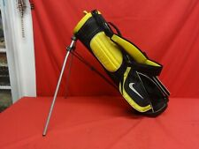 """Nike Black & Yellow Junior Golf Stand Bag 4-Way Divider w/ Dual Straps 30"""" Tall"""