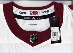 COLORADO AVALANCHE size 54 = XL Reverse Retro ADIDAS authentic NHL hockey jersey