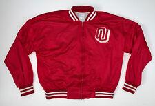 Vintage 90s University Of Oklahoma Sooners Mesh Jacket Size Adult L OU Red