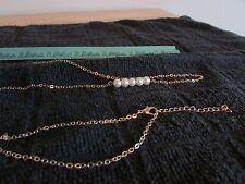 Golden Waist Belly Body Chain Bikini Beach Belt Body Chain Faux Pearls US Seller