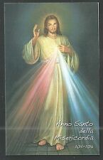 Estampa Jesus de la Misericordia santino holy card image pieuse
