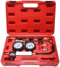 Cylinder Leak Down Leakage Tester Detector Engine Compression 2 Gauges With Case