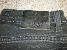 Harley Davidson womens black jeans size 8 HD denim motorcycles