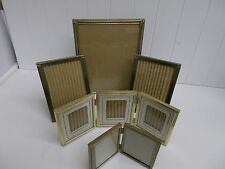 KW-268 Picture Frames Gold Metal Frames with Glass Bifold  Trifold 8x10 5x7