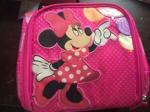 NEW w/Tags Minnie Mouse Soft Case Lunch Box Carrying Case Pink Disney -Free Ship