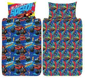 Blaze and The Monster Machines Single Duvet Cover Reversible Bedding Set
