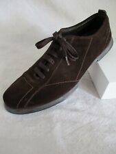 Zegna Sport recent excellent authentic brown suede sneakers trainers 8D
