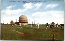 Postcard WI Lake Geneva Athletic Field Young Men's Christian Assn. Camp 1910