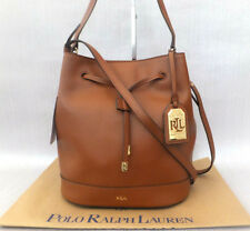 Ralph Lauren Ladies Crawley Drawstring Pebbled Leather Bucket Bag RRP £189