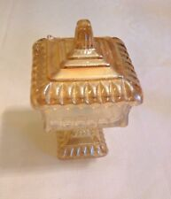 """FENTON MARIGOLD CARNIVAL GLASS CANDY DISH 6"""" TALL EXCELLENT COND NO CHIPS"""