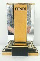 Vintage Fendi Designer Mirrored Perfume Cologne Bottle Store Counter Display
