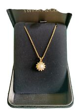 Authentic Tiffany & Co Yellow Gold diamond Pearl Necklace-Gorgeous!
