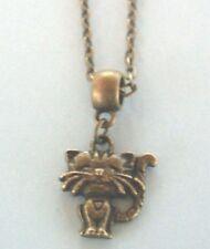 collier chaine bronze 51 cm avec pendentif chat coeur