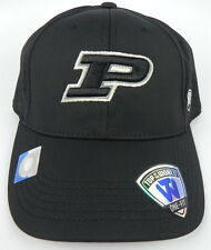 sneakers for cheap 0ed12 b3b47 PURDUE BOILERMAKERS NCAA ALL BLACK STRETCH FLEX FIT 1-FIT TOW CAP HAT NWT!