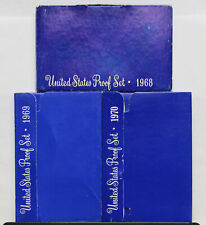 1968 1969 1970 Proof set run - 3 box lot  US MINT - (OGP) 15 Coins