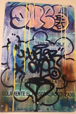 NYC Graffiti Writer Duel Metal Sign Street Art New York SEEN KRINK MOLOTOV