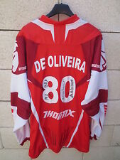 Maillot MOTO CROSS porté dédicacé par DE OLIVEIRA n°80 THOR shirt trikot L