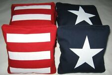 Real Corn Made Cornhole Baggo Bean Corn Toss Game World Bags American Flag NICE!