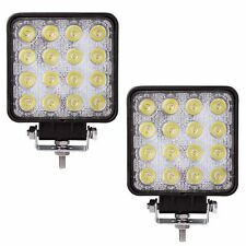 2* 48W Square Flood CREE LED WORK LIGHT Off Road ATV SUV 4WD Car Boat Jeep Truck