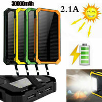 2000000mAh 2USB Solar Power Bank Pack External Battery Charger for Cell Phone AU