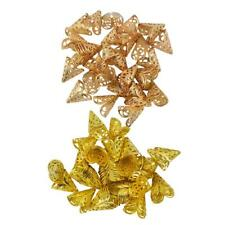 100pcs Gold Filigree Cone Flower Beads Cap Bead End Jewelry Making Findings