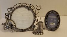 Western-Cowboy Picture Frame Lot of 3 pieces