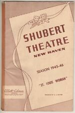 """Pearl Bailey (DEBUT) & Juanita Hall """"St. Louis Woman""""  TRYOUT   Playbill  1946"""