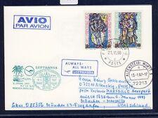55990) LH FF München - Marseille France 6.1.97, Karte ab Vatikan